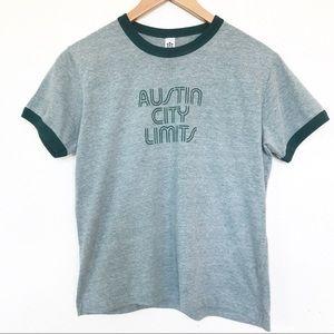 Austin City Limits ACL ringer t wmns Sz S girls XL